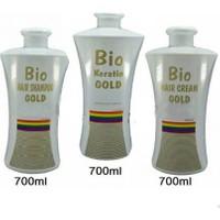 Bio Keratin Gold Kalıcı Brezilya Fönü 3'lü Set
