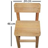 Baskaya Ahşap Çocuk Sandalyesi