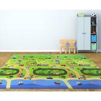 Baby Care Happy Village Oyun Matı 2100 x 1400 x 13 Mm