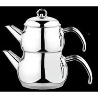 Besa Çelik Çaydanlık Metal Kulp Mini Boy Toplam 2, 05 Litre