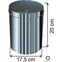 Arı Metal Dokunmatik Kapaklı 3 Lt Paslanmaz Çöp Kovası