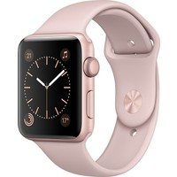 Apple Watch Seri 2 38mm Rose Altın Rengi Alüminyum Kasa ve Kum Pembesi Spor Kordon - MNNY2TU/A