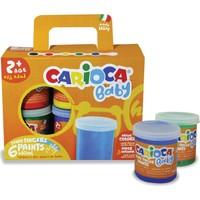 Carioca Yıkanabilir Parmak Boyası 6 Renk x 80 gr