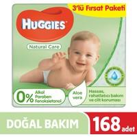 Huggies Islak Havlu (Saf ve Doğal ) Yeni 168 Yaprak - 3Lü Fırsat Paketi