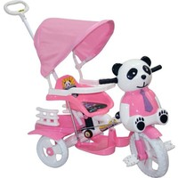 Babybee Sevimli Panda Tenteli Bisiklet Pembe