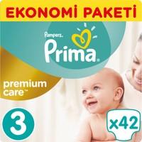 Prima Bebek Bezi Premium Care Ekonomi Paketi 3 Beden 42 Adet