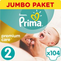 Prima Bebek Bezi Premium Care 2 Beden Mini Jumbo Paket 104 Adet