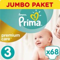 Prima Bebek Bezi Premium Care Jumbo Paket 3 Beden 68 Adet