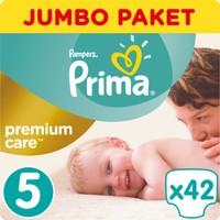 Prima Bebek Bezi Premium Care Jumbo Paket 5 Beden 42 Adet