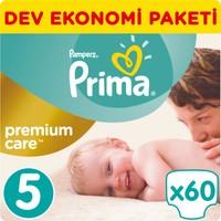 Prima Bebek Bezi Premium Care Dev Ekonomi Paketi 5 Beden 60 Adet