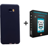 Case Man Samsung On5 Kılıf + Kırılmaz Cam Por Silikon Kadifemsi Doku