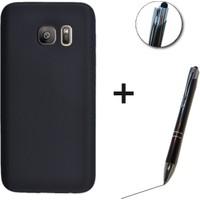 Case Man Samsung S6 Edge Kılıf + Stylus Kalem Por Silikon Kadifemsi Doku