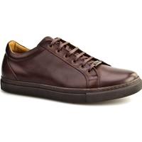 Cabani Bağcıklı Sneakers Günlük Erkek Ayakkabı Kahverengi Napa Deri