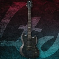 Esp Ltd LVIPER100FMSTBLK Thru Black Elektro Gitar