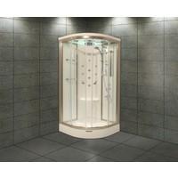 Shower 100*100 Aqua Oval Duş Teknesi Üzeri H:216 Compact Sis-Iıı