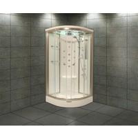 Shower 130*130 Aqua Oval Duş Teknesi Üzeri H:216 Compact Sis-Iıı