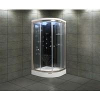 Shower 80*80 Aqua Oval Duş Teknesi Üzeri H:216 Siyah Compact Sis-Iv