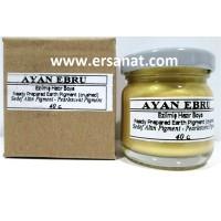 Ayan Ebru Boyası (Ezilmiş) Pigment Sedef Altın 40 Cc
