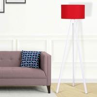 Hepsiburada Home Kumaş Başlıklı Lambader Kırmızı Beyaz