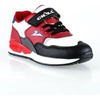 Erbilden Chil Siyah Kırmızı Desenli Çocuk Spor Ayakkabı