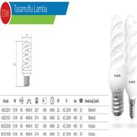 Klaus Beyaz Tasarruflu Lamba 13W E27-450Lm Ke32203K (1 Adet)