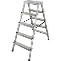 Alüminyum Çift Çıkışlı Merdiven 5+5 (1 Adet)