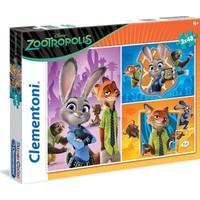 Clementoni 25213 - Zootropolis Puzzle - 3x48 Parça