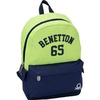 Benetton 87273 Sırt Çantası (Yeşil - Lacivert)