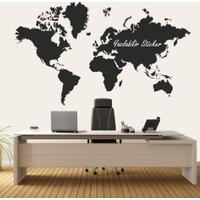 Dekorloft Dünya Haritası Yazılabilir Sticker 150X95 Cm