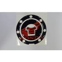 Depo Kapak Stikeri (Pad) Hd 10 Siyah Kırmızı Honda Cbr 600Rr 600F 650F