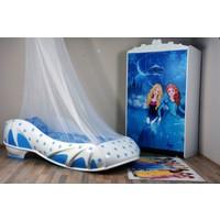Musvenus Mobilya Elsa Mavi 3 Kapaklı Dolap