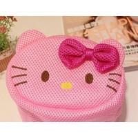 Momz Pembe Hello Kitty File Sepet 16*11Cm Makyaj Çantası