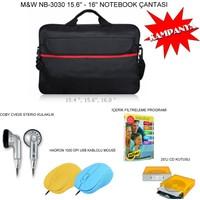"""M&W 15.6"""" Notebook Çantası - 4'lü Set"""