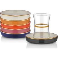 Koleksiyon Tiryaki Zincir Çay Seti 6Lı Altın Karma