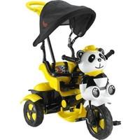 Babyhope Little Panda Tenteli Ebeveyn Kontrollü Üç Teker Çocuk Bisikleti