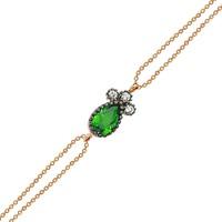 Altınsepeti Rose Altın Yeşil Taşlı Damla Bileklik As245Blr2Ty