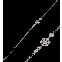 Akyüz Gümüş Kar Tanesi Sonsuzluk Modeli Gümüş Bileklik Bz042