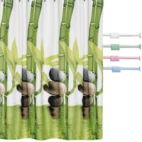 Prado Bamboo Banyo Perdesi + Banyo Askısı