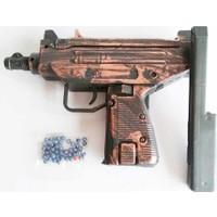 Diriliş Oyuncak Boncuk Atan Uzi Tüfek Tabanca + (Tangram)