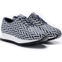 Drexel 20300 Beyaz - Lacivert Deri Günlük Kadın Ayakkabı