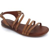 Drexel Kahverengi Deri Kadın Sandalet