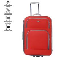 Corinas Kırmızı Büyük Boy Bavul 2 Teker
