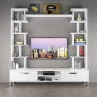 Eyibil Mobilya Arena Xl 200 Cm Tv Sehpası Tv Ünitesi Parlak Beyaz