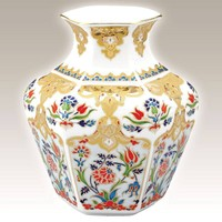 Kütahya Porselen 15 Cm El Yapımı Vazo Dekor No: 01412