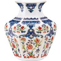 Kütahya Porselen 15 Cm El Yapımı Vazo Dekor No:01415