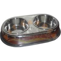 Garden Mix Kedi Köpek İkili Çelik Mama Kabı Xlarge