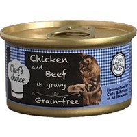 Chefs Choice Soslu Tahılsız Tavuklu Ve Biftekli Kedi Konserve 80 Gr