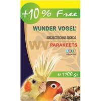 Wunder Vogel Selections Aromalı Paraket Yemi 1000 Gr + 100 Gr Bonus