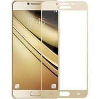 KılıfShop Samsung Galaxy C7 Pro Tam Ekran Koruyucu Cam