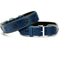 Doggie Comfort Pati Desenli Boyun Tasması Mavi 3,5 X 70 cm
